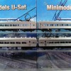 U Boat Set No. 536, 4 Car, Single Headlight, Liftup Windows, Circa 1958